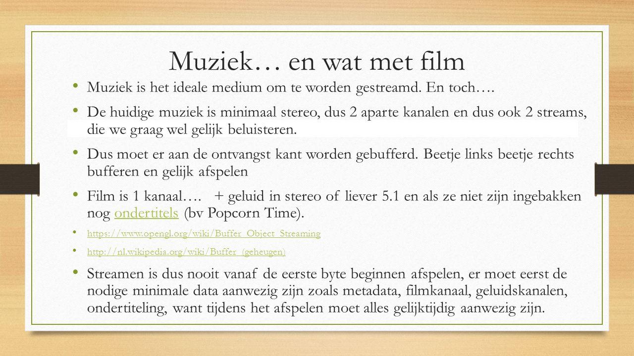 Muziek… en wat met film Muziek is het ideale medium om te worden gestreamd.