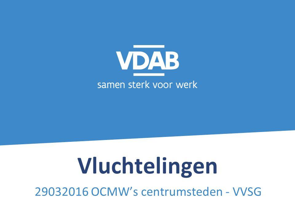 12 Specifiek aanbod VDAB voor de verhoogde nieuwe instroom VDAB voorziet in de begroting 2016 ook middelen voor : - 1/3de van de 20.500 extra op te starten begeleidingstrajecten - 1500 extra aanbod loopbaanoriëntatie in interactief groepsverband - 200 extra taalopleidingen en - 80 bijkomende geïntegreerde opleidingen taal en technische competenties - + Specifieke projecten ism partners Het werkplekleren wordt uitgebreid.