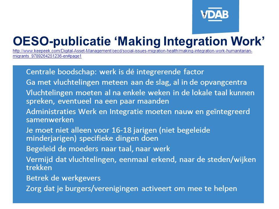 8 Minister Muyters over de opdracht van VDAB Een degelijke screening wordt de eerste belangrijke opdracht van de VDAB.