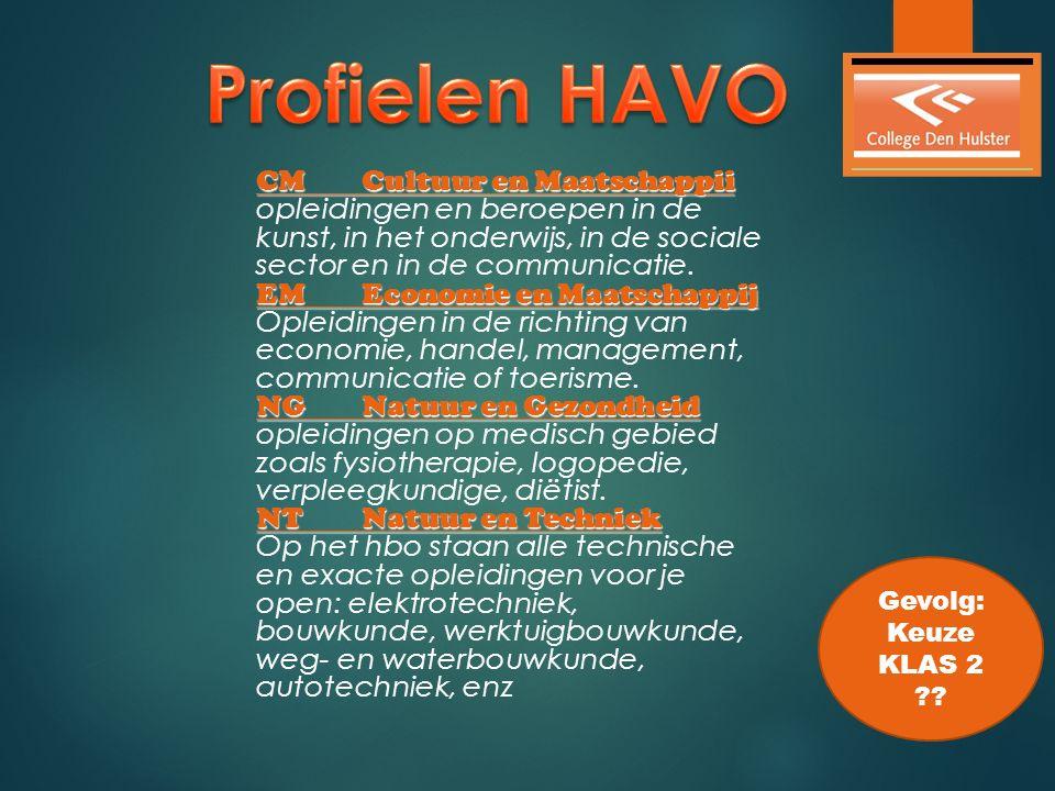  Het vak aardrijkskunde is een keuzevak binnen de profielen CM en EM op het HAVO.