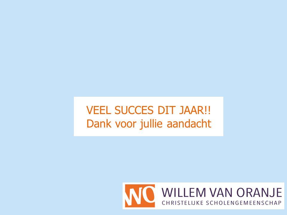 VEEL SUCCES DIT JAAR!! Dank voor jullie aandacht