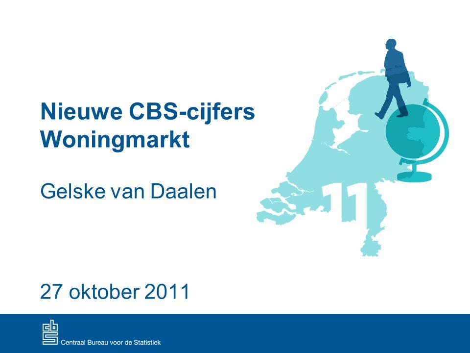 Nieuwe CBS-cijfers Woningmarkt Gelske van Daalen 27 oktober 2011