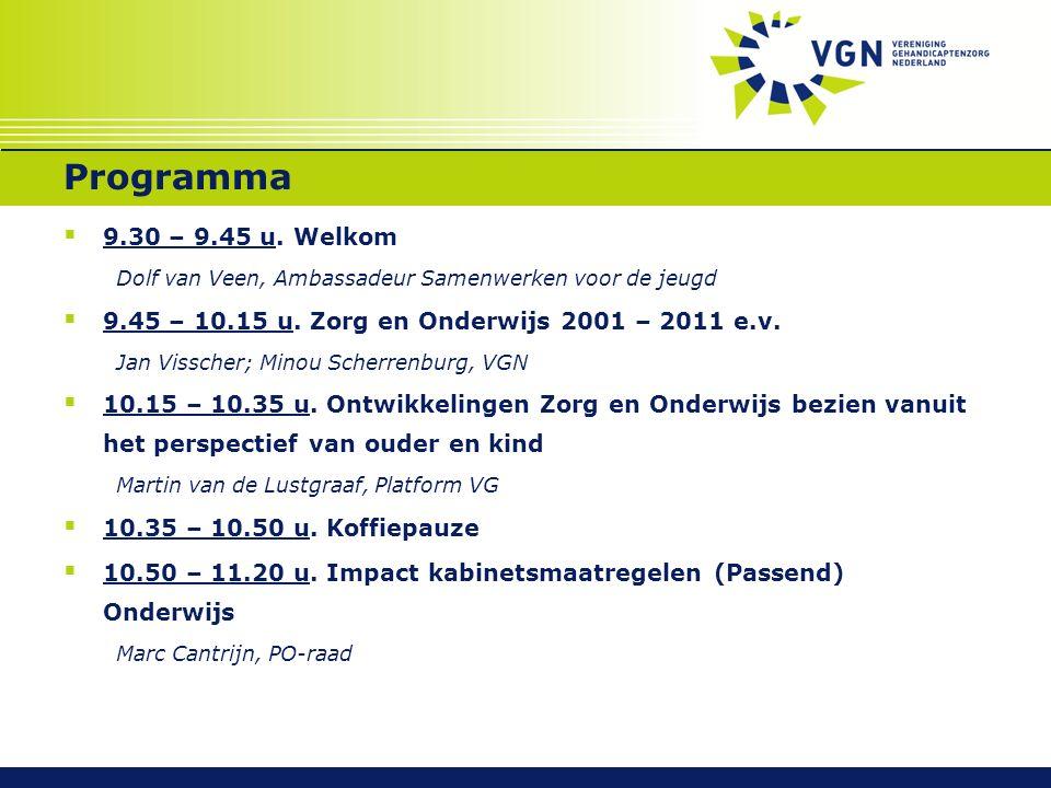 Programma  9.30 – 9.45 u.