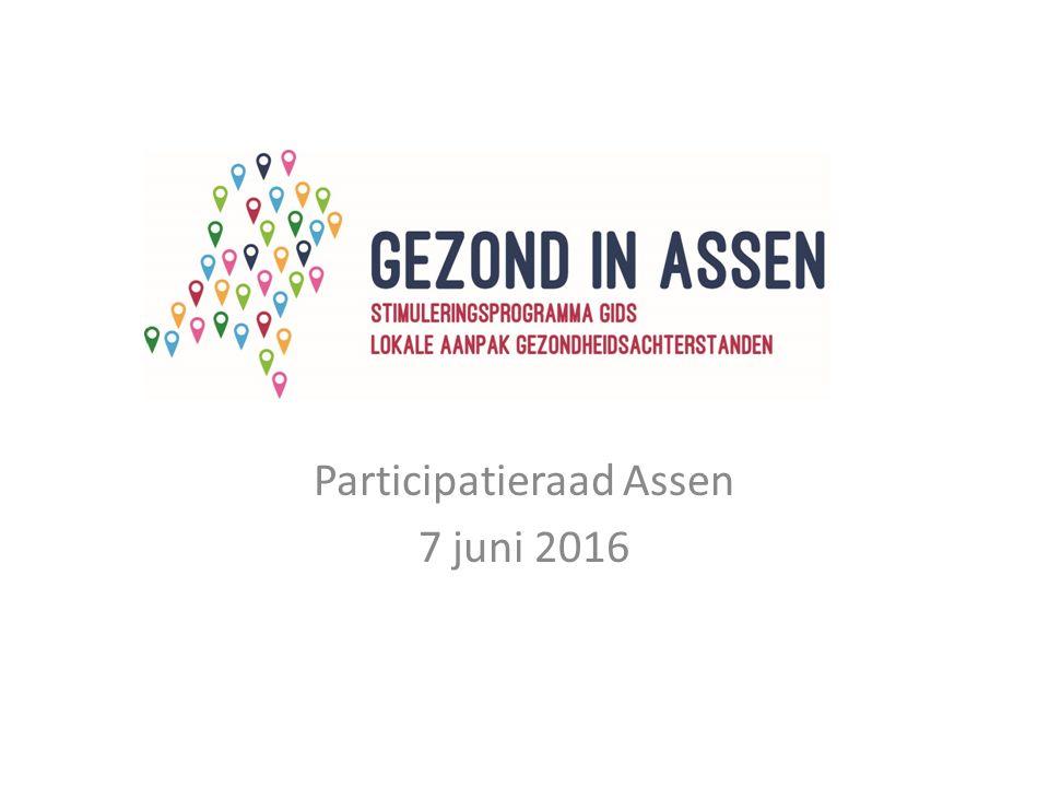 Participatieraad Assen 7 juni 2016