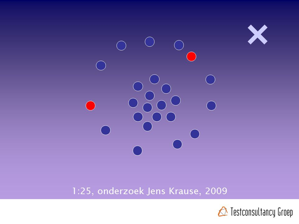 1:25, onderzoek Jens Krause, 2009
