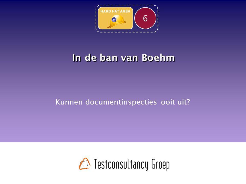 In de ban van Boehm Kunnen documentinspecties ooit uit? 6