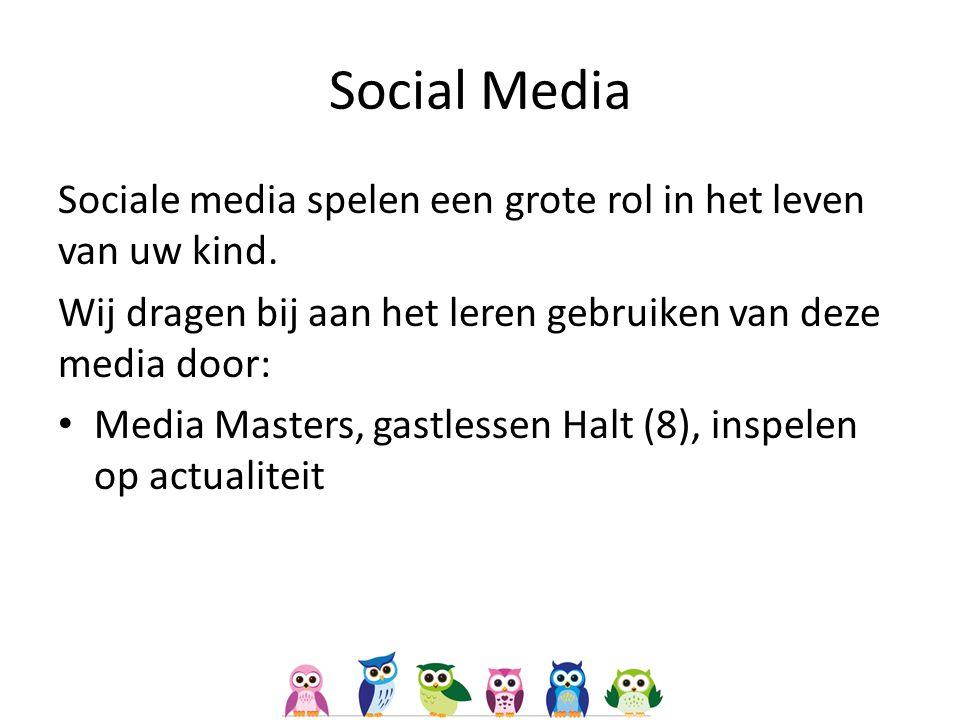 Social Media Sociale media spelen een grote rol in het leven van uw kind.