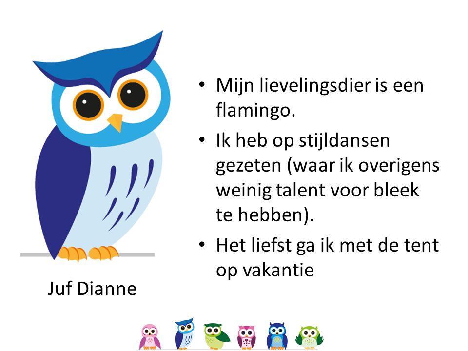 Juf Dianne Mijn lievelingsdier is een flamingo.