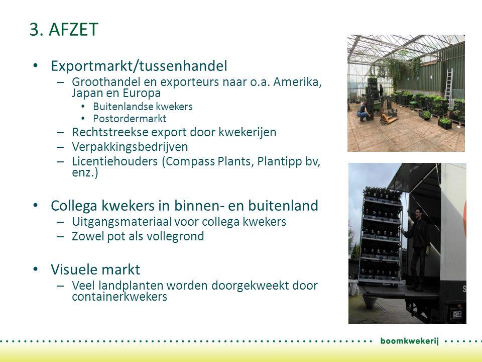 3. AFZET Exportmarkt/tussenhandel – Groothandel en exporteurs naar o.a.