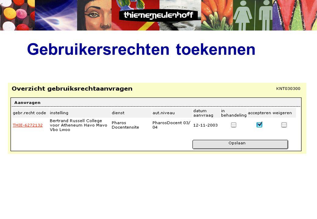 Werkwijze Licenties  Krijgt een lijst van educatieve websites.