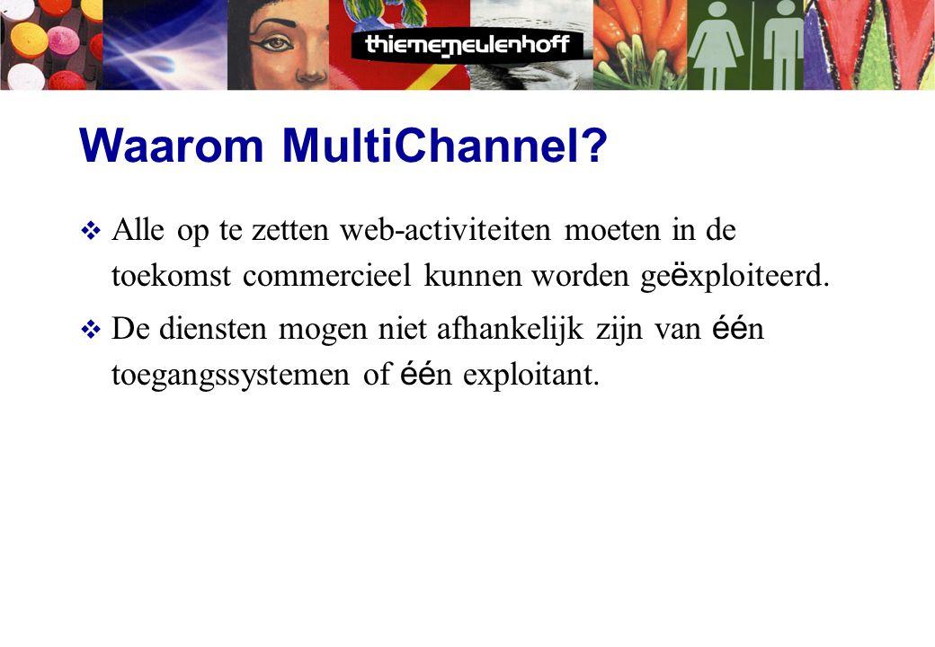 Onderwerpen  Waarom Multichannel .