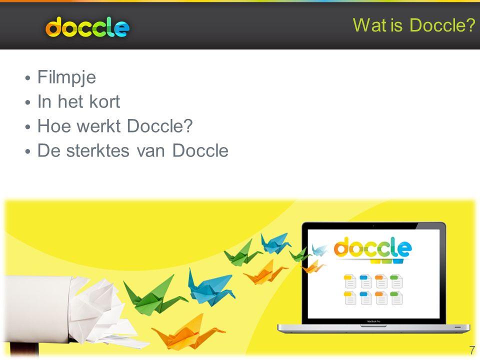 Wat is Doccle Filmpje In het kort Hoe werkt Doccle De sterktes van Doccle 7