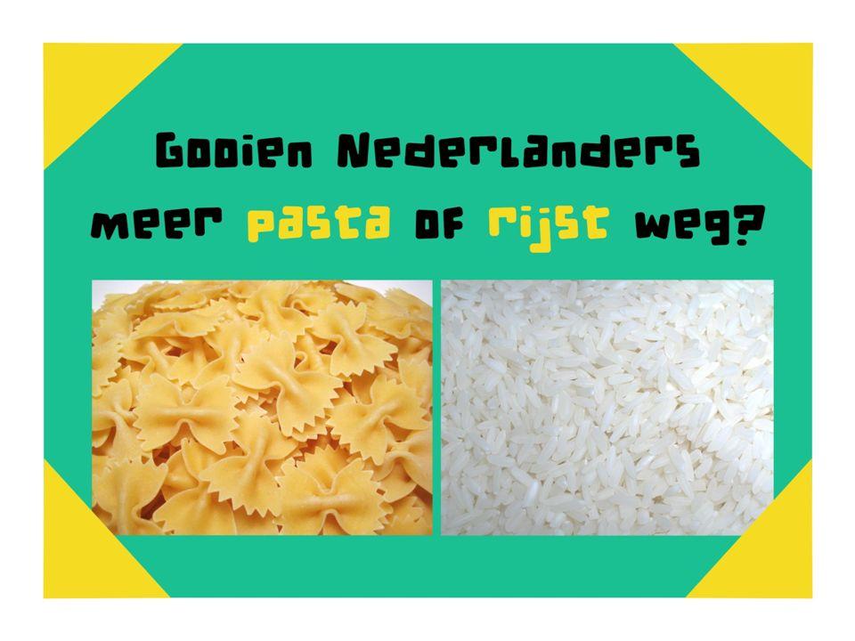 Gooien Nederlanders meer pasta of meer rijst weg