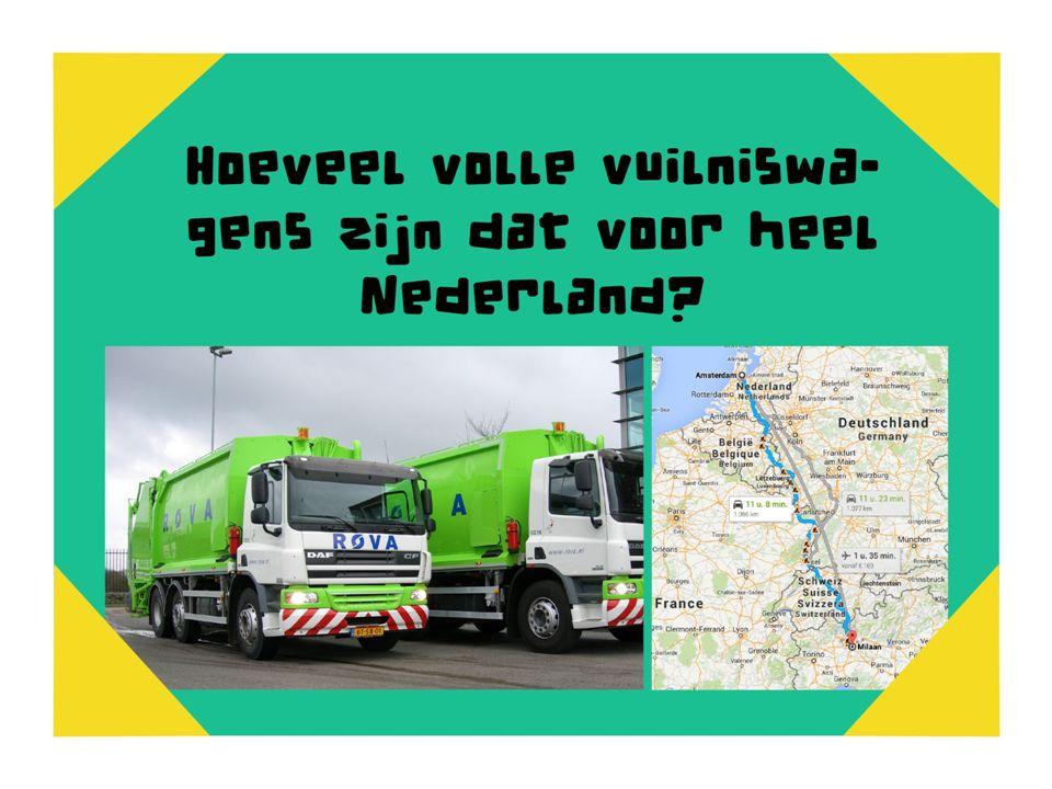 Hoeveel vuilniswagens zijn dat voor heel Amsterdam 100.000