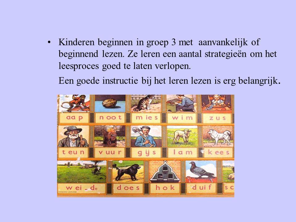 Kinderen beginnen in groep 3 met aanvankelijk of beginnend lezen.