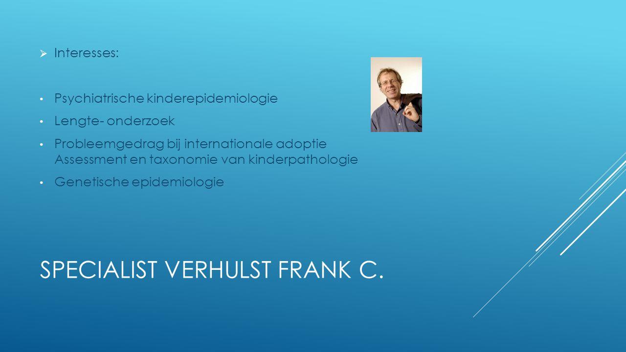 SPECIALIST VERHULST FRANK C.