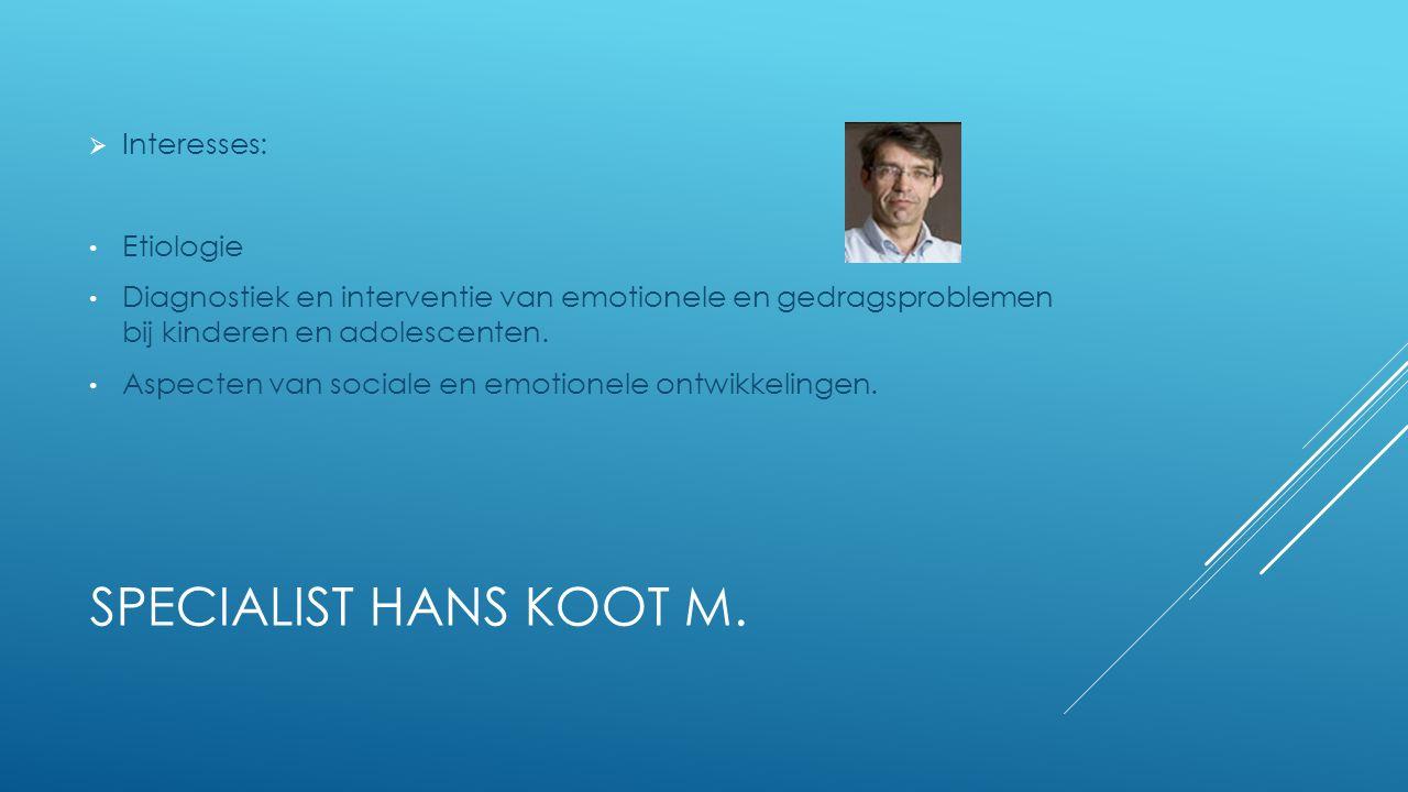 SPECIALIST HANS KOOT M.