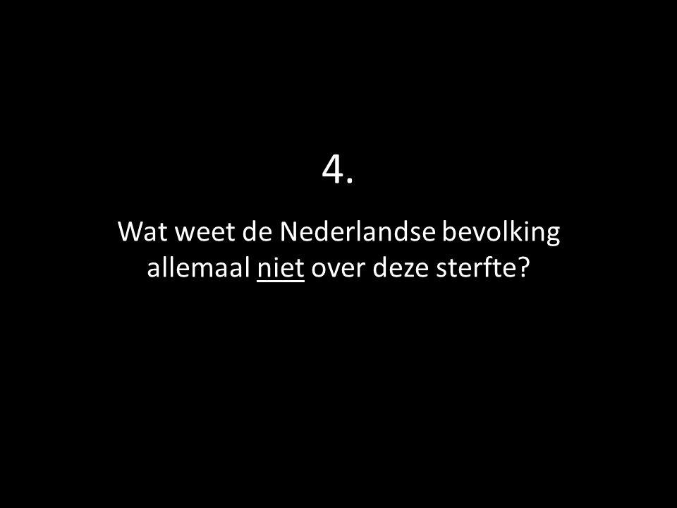 4. Wat weet de Nederlandse bevolking allemaal niet over deze sterfte