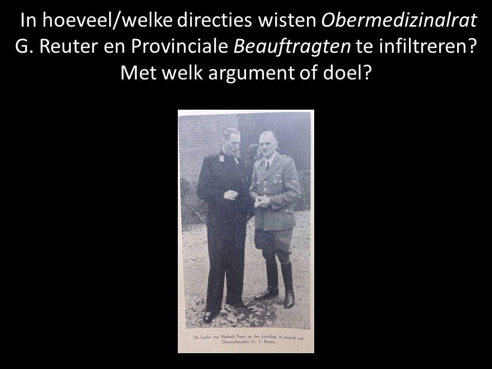 In hoeveel/welke directies wisten Obermedizinalrat G.