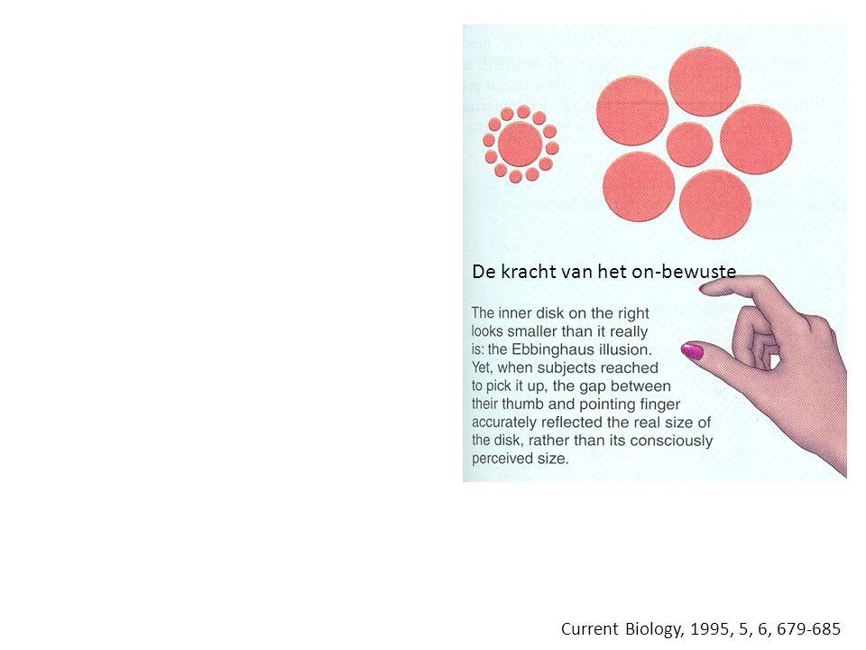 Current Biology, 1995, 5, 6, 679-685 De kracht van het on-bewuste