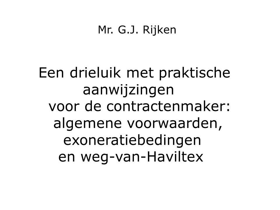 Haviltex Situatie vóór Haviltex: taalkundige uitleg Haviltex: partijbedoeling in licht van redelijkheid en billijkheid HR 13 maart 1981, NJ 1981, 635, LJN AG4158