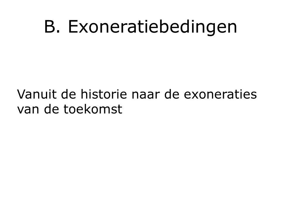 B. Exoneratiebedingen Vanuit de historie naar de exoneraties van de toekomst