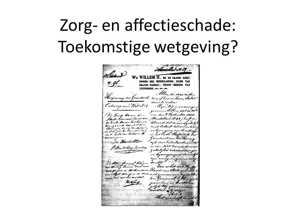 Zorg- en affectieschade: Toekomstige wetgeving?