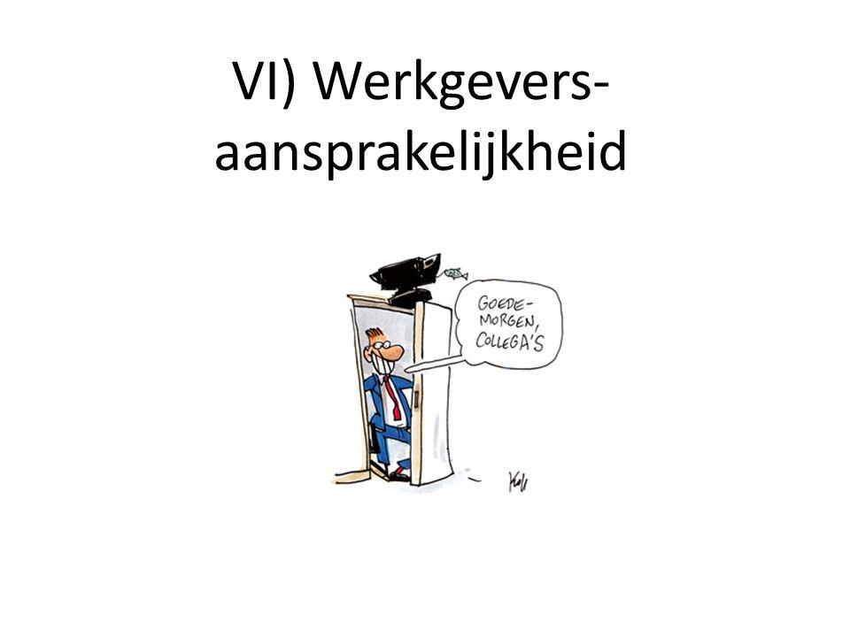 VI) Werkgevers- aansprakelijkheid
