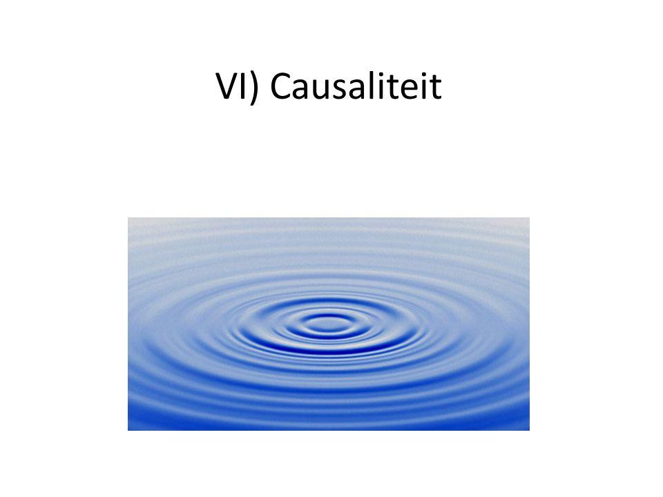 VI) Causaliteit