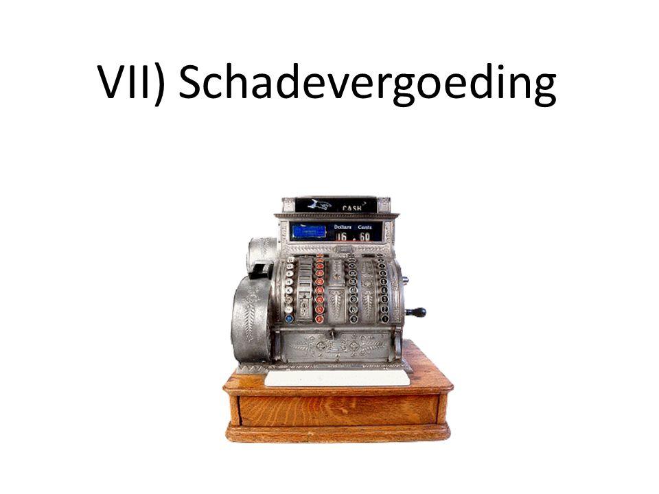 VII) Schadevergoeding