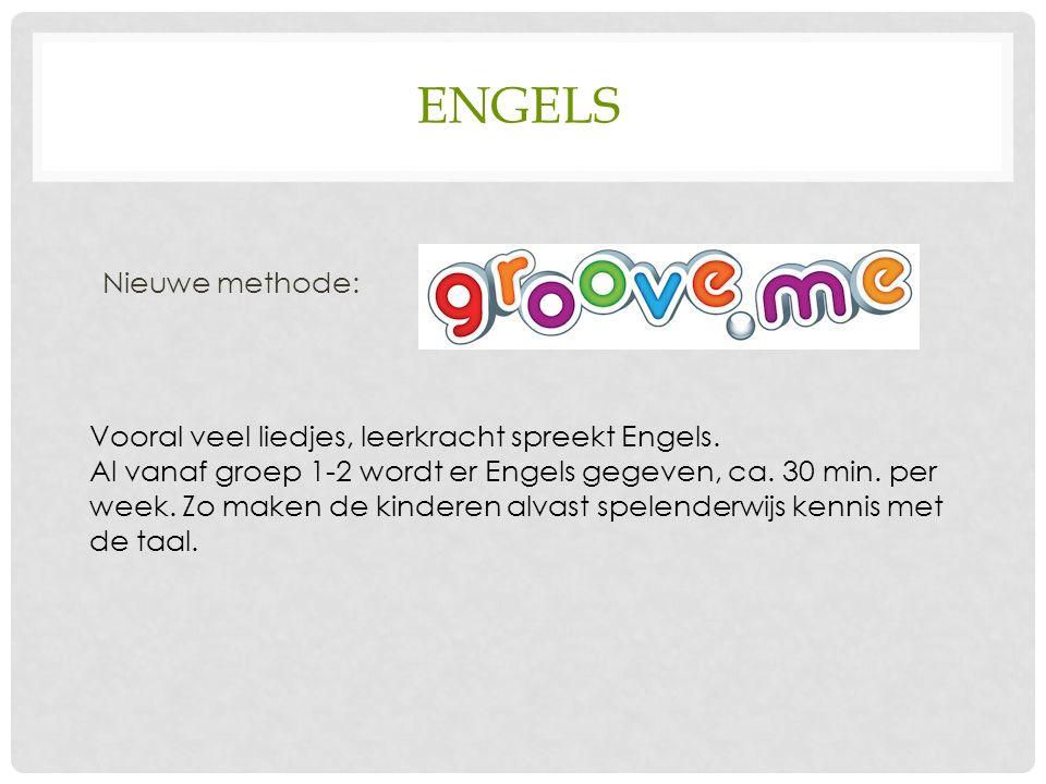 ENGELS Nieuwe methode: Vooral veel liedjes, leerkracht spreekt Engels.