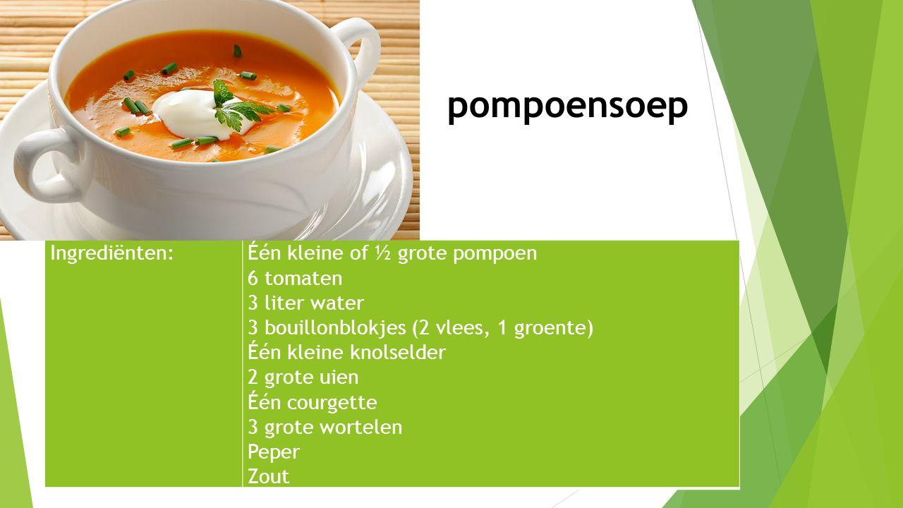 Bereiding: Snijd de pompoen in 4 of 8 stukken.