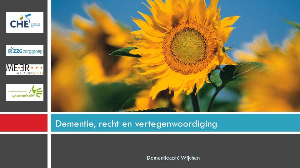Agenda Dementiecafé Wijchen Start 19.30 uur Pauze 20.15 uur Voor de pauze: - Uitleg over wat kunt u zelf ondernemen met het oog op de toekomst.