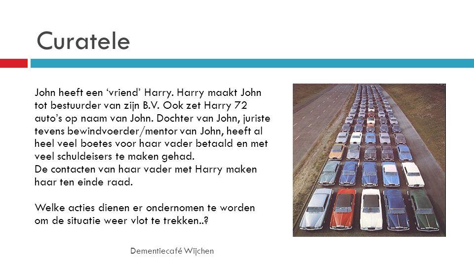 Curatele John heeft een 'vriend' Harry. Harry maakt John tot bestuurder van zijn B.V.