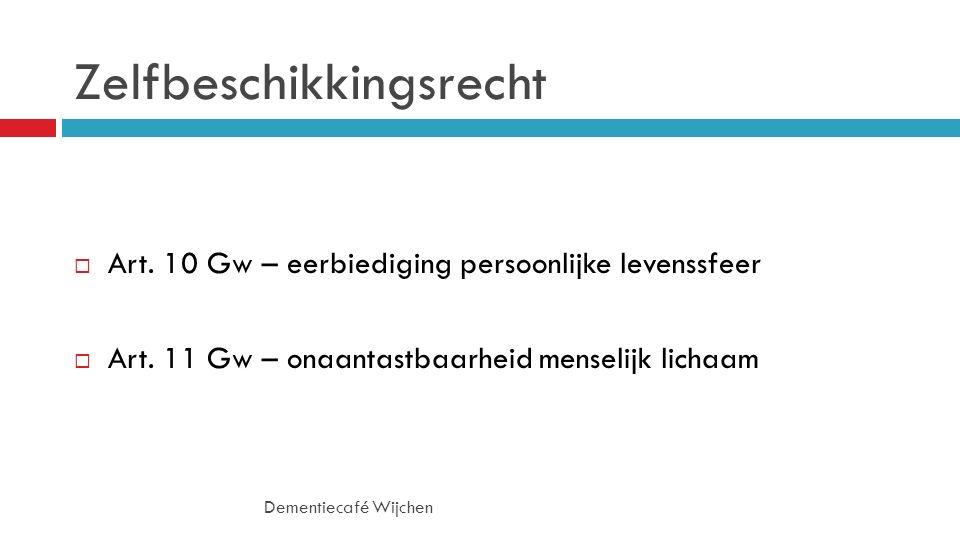 Zelfbeschikkingsrecht Dementiecafé Wijchen  Art.