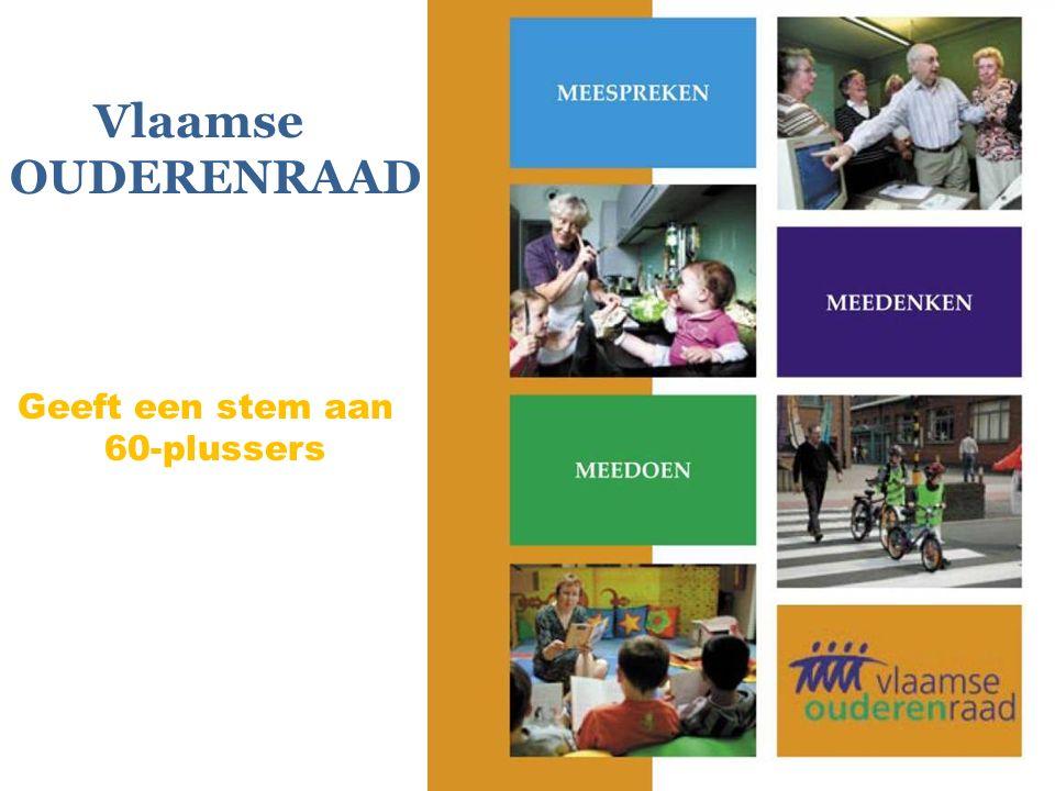 Vlaamse OUDERENRAAD Geeft een stem aan 60-plussers