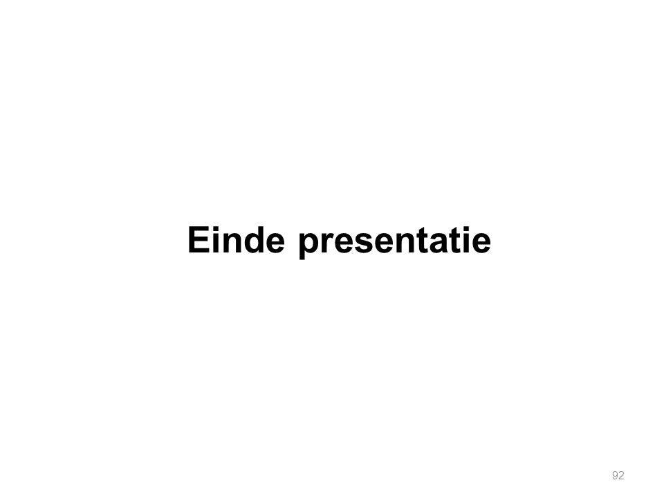 Einde presentatie 92