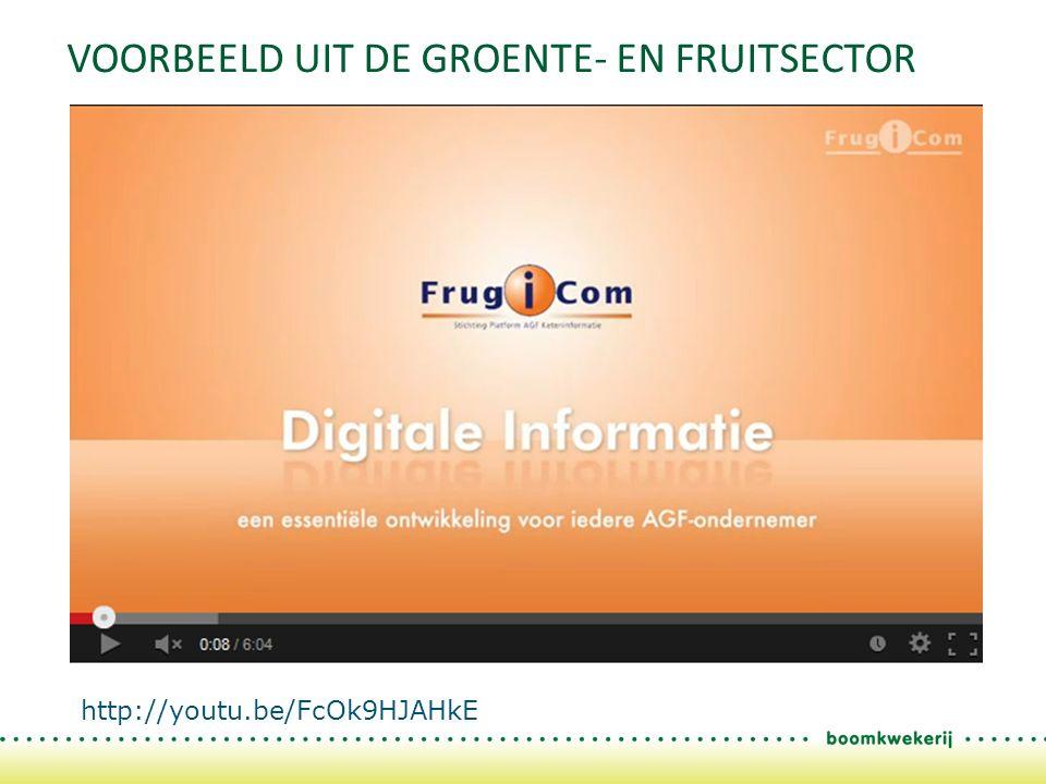 VOORBEELD UIT DE GROENTE- EN FRUITSECTOR http://youtu.be/FcOk9HJAHkE