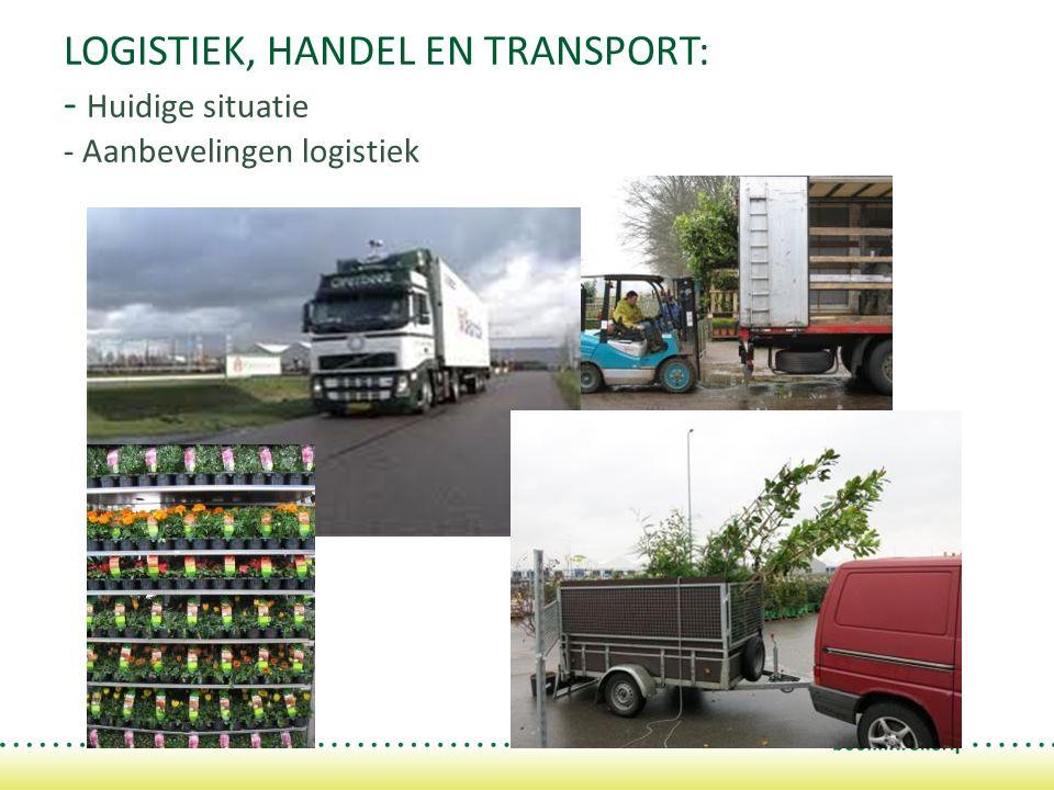 LOGISTIEK, HANDEL EN TRANSPORT: - Huidige situatie - Aanbevelingen logistiek
