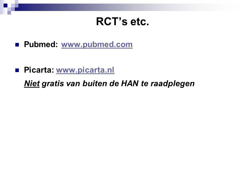 RCT's etc.