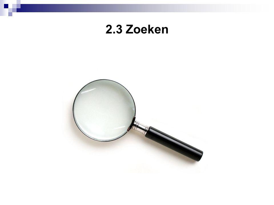 2.3 Zoeken