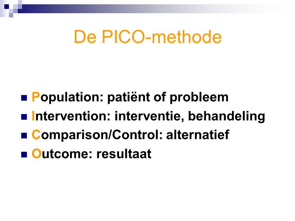 Voorbeeld 'probleem': Acute CVA-patiënten lopen flink risico op slikstoornissen en aspiratie van voedsel (prevalentie ca.