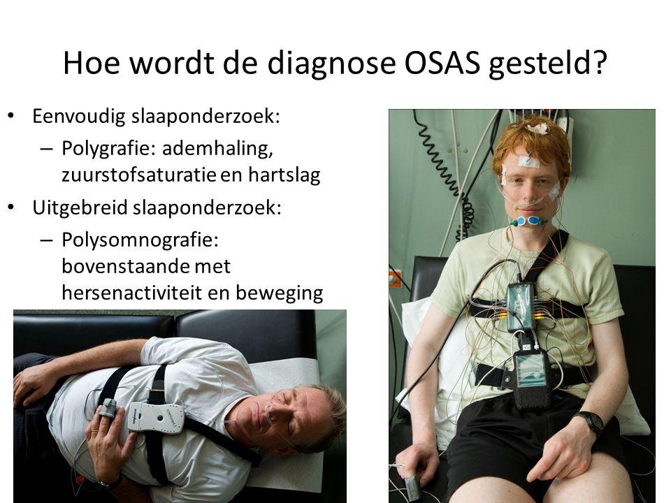 Hoe wordt de diagnose OSAS gesteld.