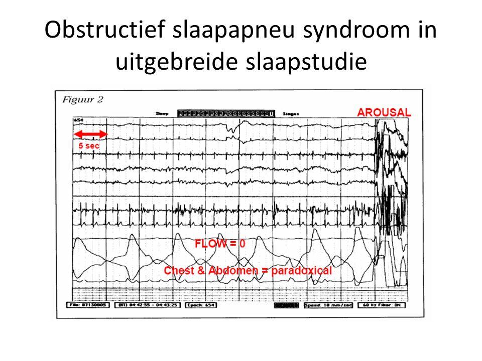 Obstructief slaapapneu syndroom in uitgebreide slaapstudie