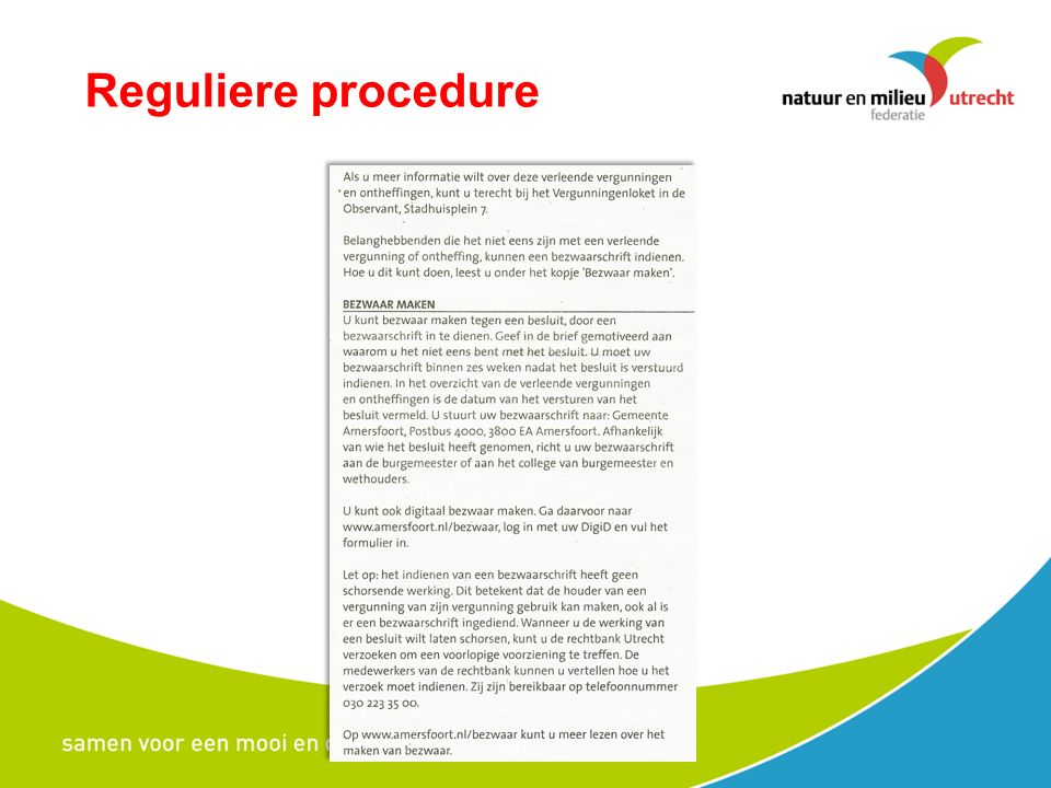 Reguliere procedure