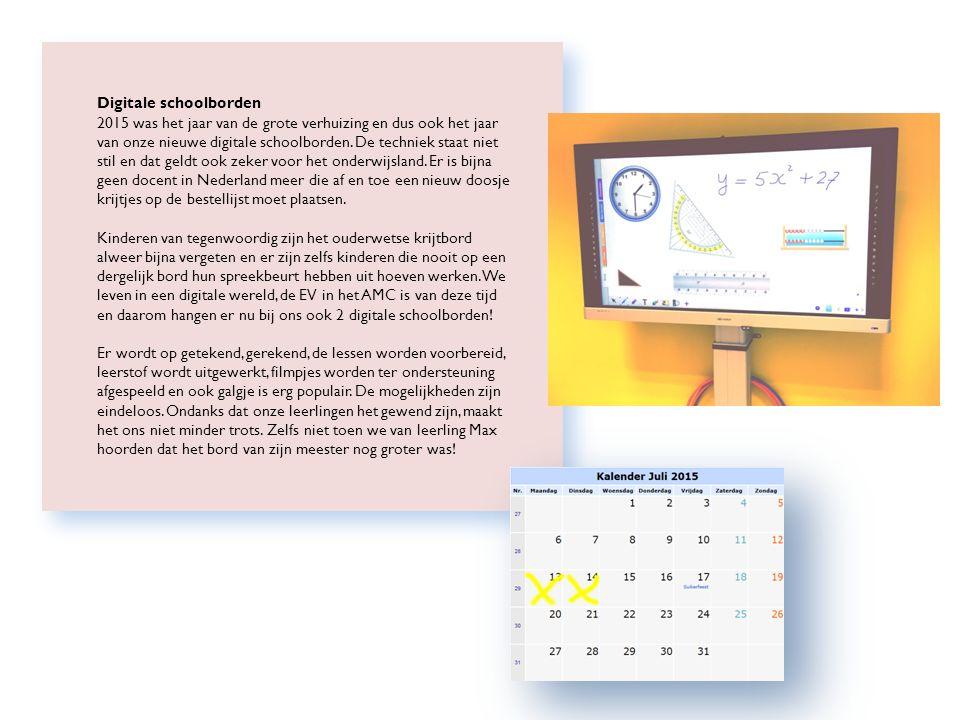 Rémi Digitale schoolborden 2015 was het jaar van de grote verhuizing en dus ook het jaar van onze nieuwe digitale schoolborden.