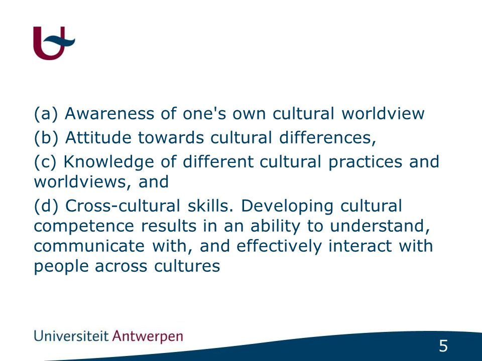 6 Cultural competence in health care describes the ability of systems to provide care to patients with diverse values, beliefs and behaviors, including tailoring delivery to meet patients' social, cultural, and linguistic needs.