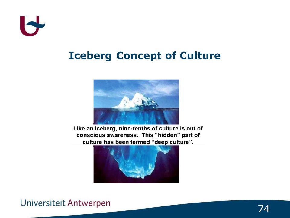 74 Iceberg Concept of Culture