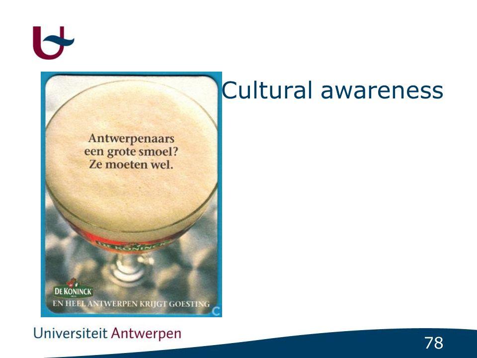 78 Cultural awareness