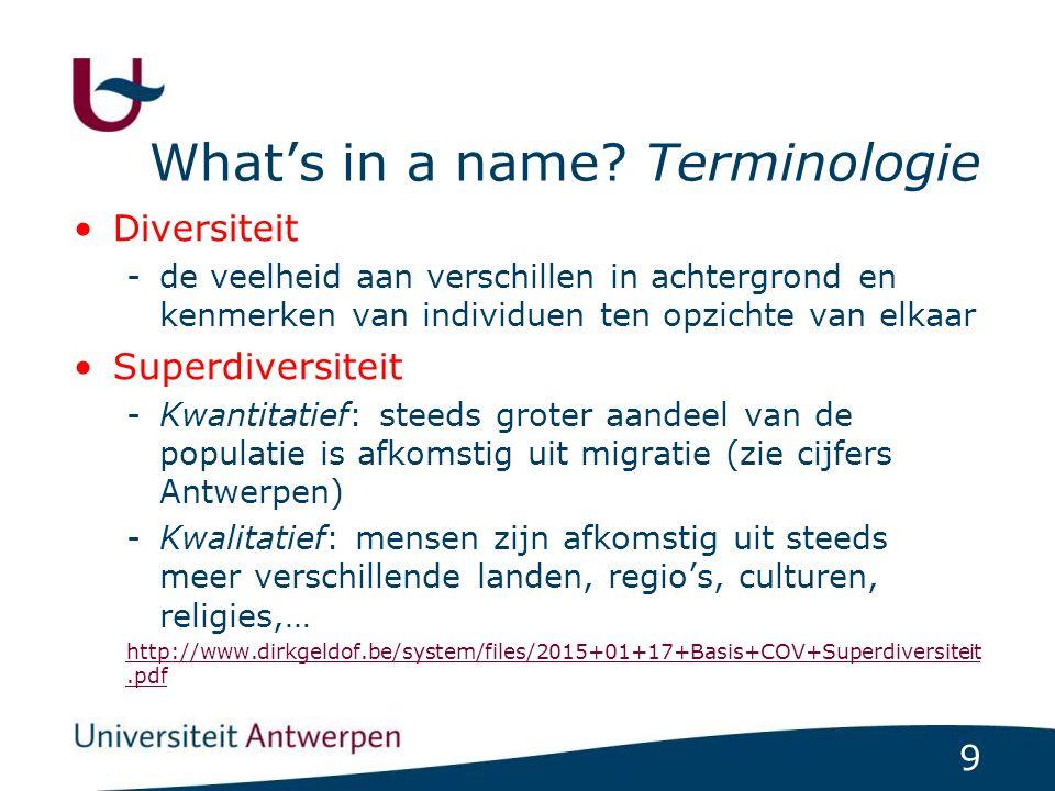 40 Diversiteit in de lokale context: asiel Bron: http://www.cgvs.be/nl/cijfers/